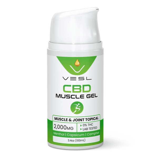 CBD Muscle Gels 2000mg. THC Free and Lab tested CBD product
